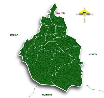 Mapa de localización en la Ciudad de México
